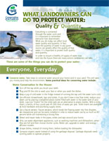 What Landowners can Do to Protect Water